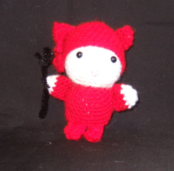 crochet hello kitty devil