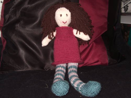 knit rag doll