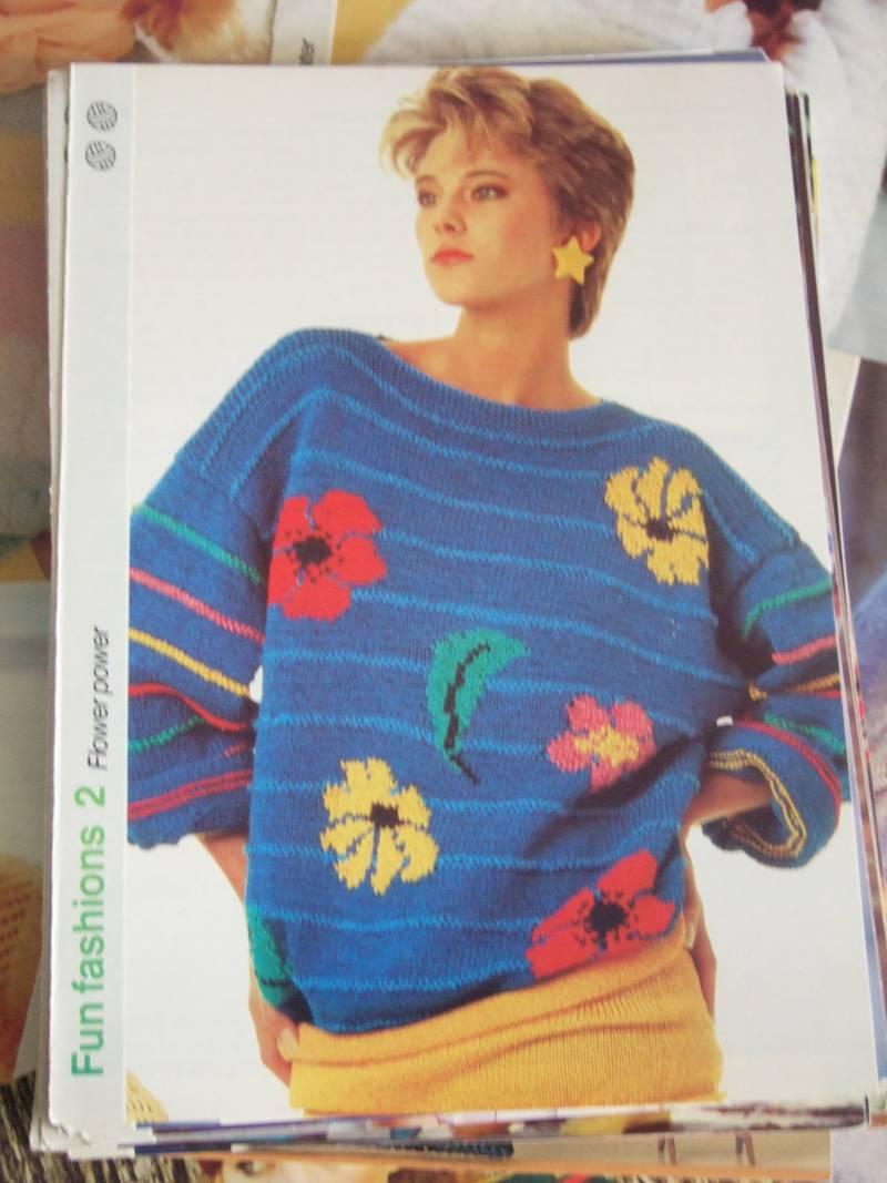 80s floral jumper pattern