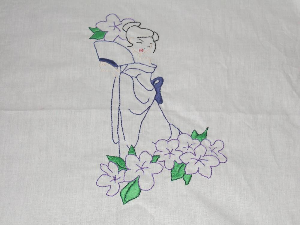 girl embroidery