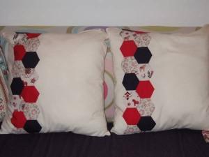 hexagon patch cushions